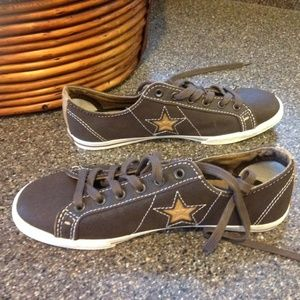 NEW CONVERSE Classic Hash All Star Low Top Brown